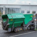 super 700i vogele asphalt paver, groff equipment