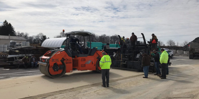 Paving and compaction training and simulator course that Groff Tractor provided.