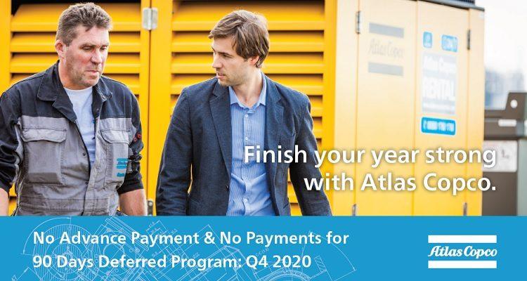 Atlas Copco: No Payments Until 2021!