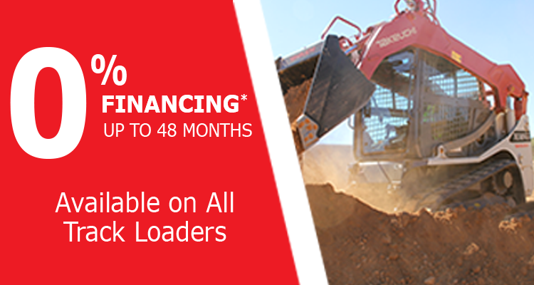0% Financing for 48 Months on Takeuchi Track Loaders at Groff Tractor & Equipment